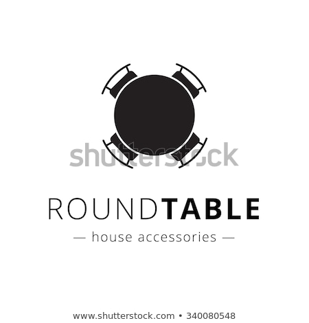 Negotiating table icon Stock photo © angelp