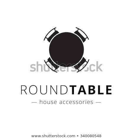Tárgyal asztal ikon üzlet iroda háttér Stock fotó © angelp