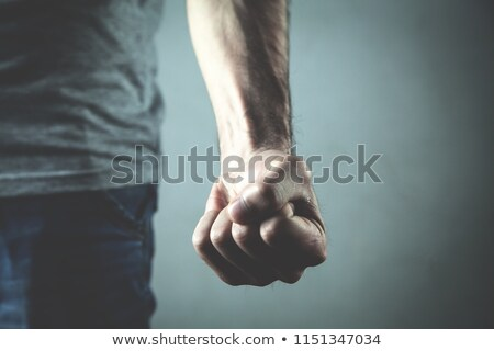 Angry fist. Stock photo © Fisher