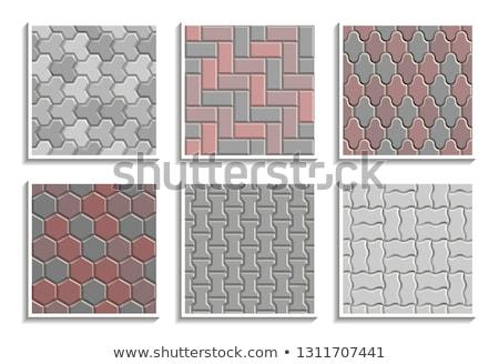 seamless background of sidewalk tiles vector illustration stock photo © kup1984