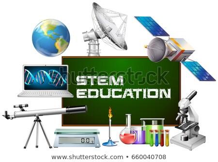 pokładzie · chemia · szkoły · tablicy · kredy - zdjęcia stock © bluering