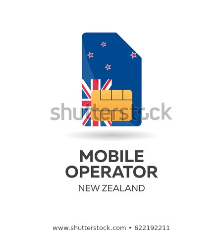 new zealand mobile operator sim card with flag vector illustration stock photo © leo_edition