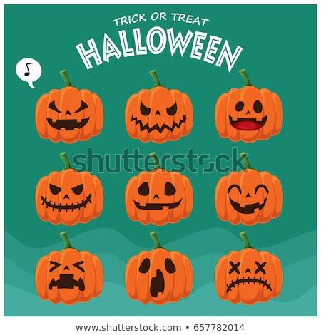 heureux · halloween · carte · résumé - photo stock © bluering