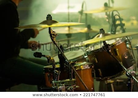 erkek · davulcu · gece · kulübü · ciddi · müzik - stok fotoğraf © wavebreak_media