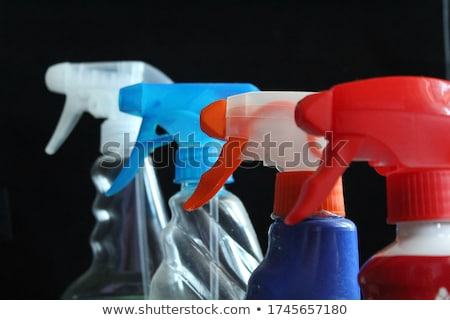 Takarítás spray üveg szivacs kesztyű fehér Stock fotó © wavebreak_media