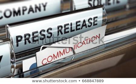 press releases on file folder blurred image 3d illustration stock photo © tashatuvango