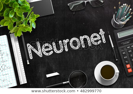 Neuronet Handwritten on Black Chalkboard. 3D Rendering. Stock photo © tashatuvango