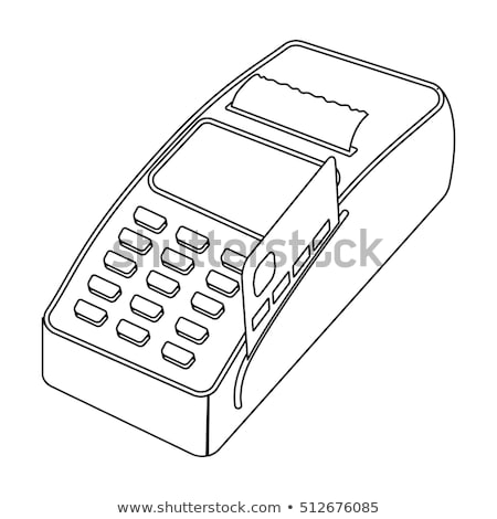 Stock photo: pos terminal stock vector illustration