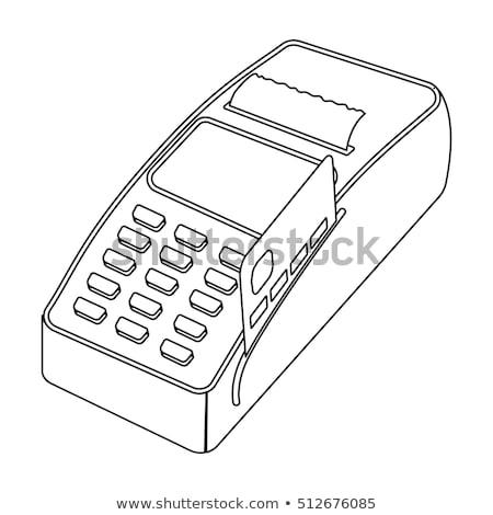 pos terminal stock vector illustration stock photo © konturvid