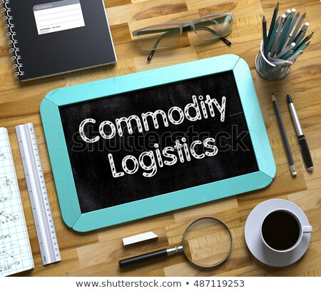 Commodity Logistics on Small Chalkboard. 3D. Stock photo © tashatuvango