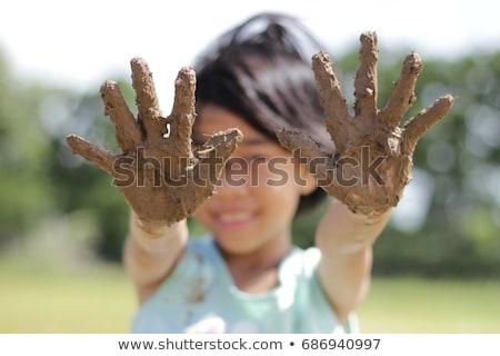 少女 泥だらけの 手 子 キーボード ストックフォト © wavebreak_media