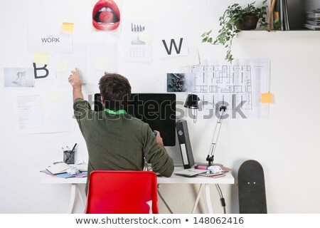 Młodych mężczyzna architekta zielone biuro człowiek Zdjęcia stock © IS2