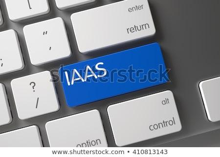 Blue IaaS Keypad on Keyboard. 3D. Stock photo © tashatuvango