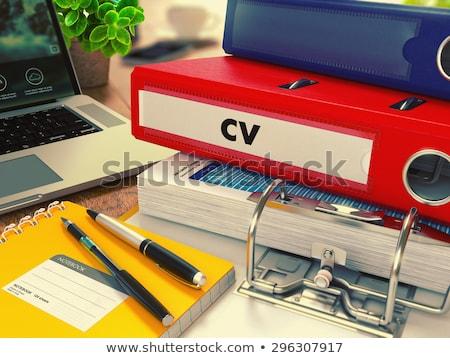curriculum vitae on office folder toned image stock photo © tashatuvango