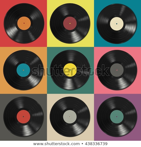 player of vinyl records seamless pattern Stock photo © studiostoks