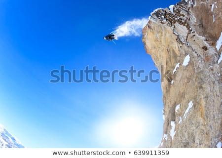 Esquiador saltando penhasco natureza viajar Foto stock © IS2
