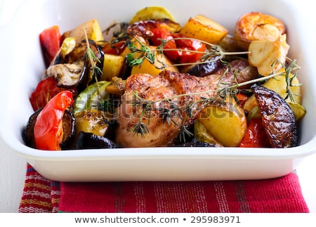 baked chicken and vegetable stock photo © m-studio