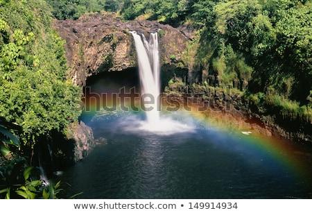 Gökkuşağı büyük ada Hawaii doğal çağlayan Stok fotoğraf © kraskoff