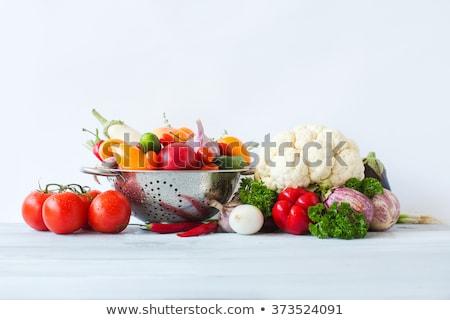 tabela · mercado · fresco · exibir · ninguém · close-up - foto stock © lightfieldstudios