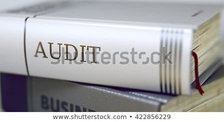 Audit. Book Title on the Spine. 3D Render. Stock photo © tashatuvango