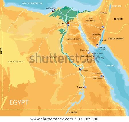 Egypt Map Stock photo © tony4urban