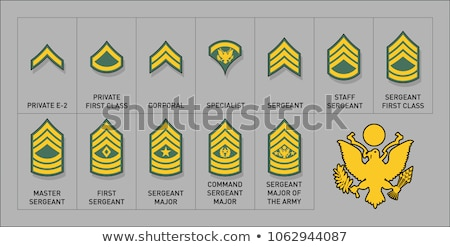 Hadsereg katonaság rang jelvény szett amerikai Stock fotó © Krisdog