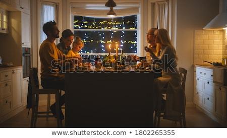 Kleindochter grapje grootvader liefde man leuk Stockfoto © IS2