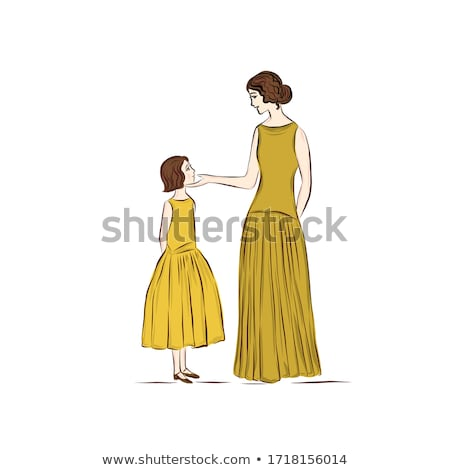 mother daughter dressed as princesses stock photo © is2