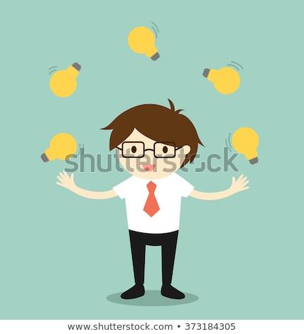 light bulbs juggling stock photo © psychoshadow