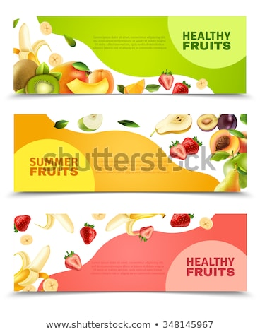 summer sale banner with kiwi green fruit Stock photo © SArts