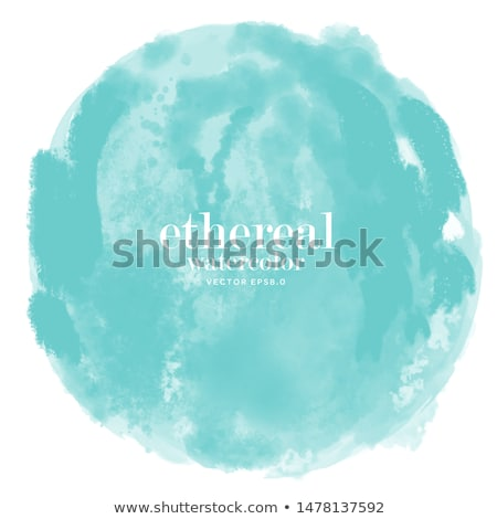 Coloured Watercolor Background With A Landscape Stock Photo