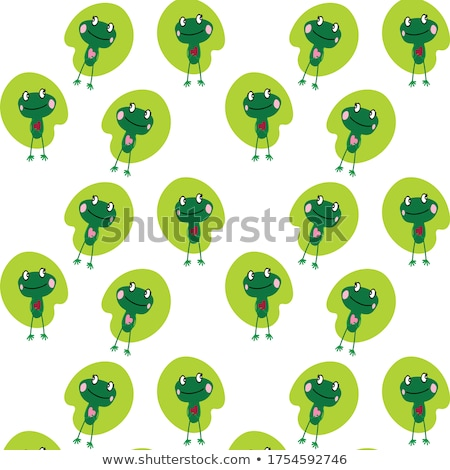 Smiling Frog Female Cartoon Mascot Character Holding A Valentine Love Heart Stock photo © hittoon