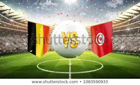 Football match Belgium vs. Tunisia Stock photo © Zerbor
