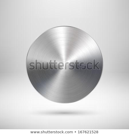 Metal cerchio badge pulsante modello metallico Foto d'archivio © molaruso
