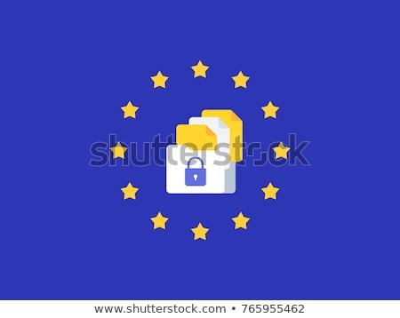 eu · 一般的な · データ保護 · 規制 · 地図 · 技術 - ストックフォト © thp