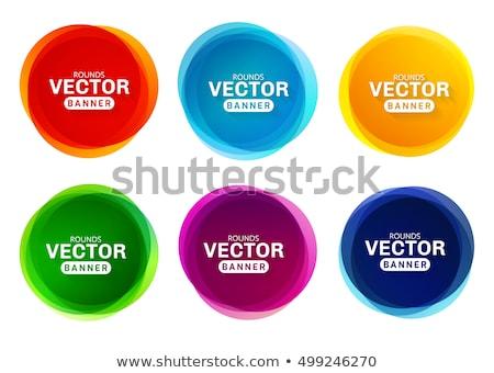 colorido · forma · abstrata · branco · vetor · criador · círculos - foto stock © designleo