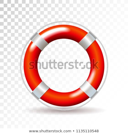 life buoy isolated on transparent background detailed vector illustration for your design stock photo © articular