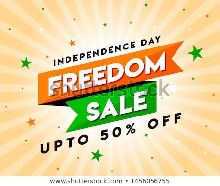 happy independence day sale offer vector background stock photo © saqibstudio