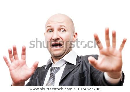 Сток-фото: страшно · испуганный · бизнесмен · стороны