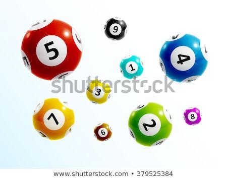 Lottó labda ikon vektor hosszú árnyék Stock fotó © smoki