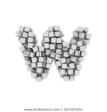Beyaz w harfi 3D 3d render Stok fotoğraf © djmilic