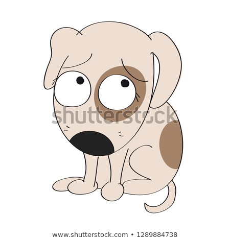 Paura cartoon cane illustrazione guardando grafica Foto d'archivio © cthoman