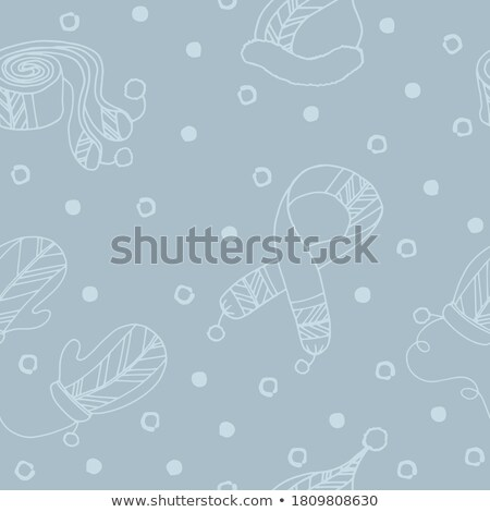 Felt Boot and Warm Hat Pattern Vector Illustration Stock photo © robuart