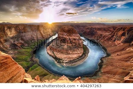Patkó kanyar Grand Canyon Colorado folyó oldal Stock fotó © vichie81