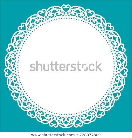 kék · horgolás · minta · textúra · étel · divat - stock fotó © freesoulproduction