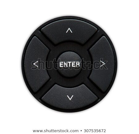 Menu selector and enter key. Commonly seen on typical remote control units. directional buttons seen Stock photo © kyryloff