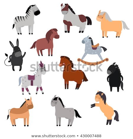 Galloping Cartoon Horse . vector illustration  stock photo © doomko