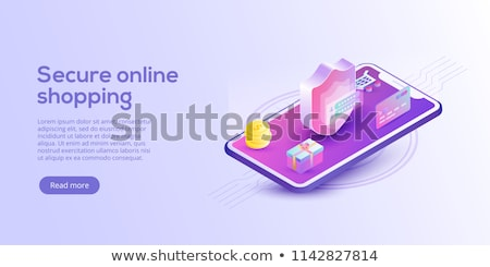 Foto stock: Banking Online Security Pssword With Mobile And Credit Card