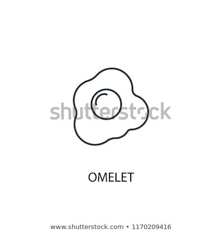 Tojások vektor ikon logo szimbólum egészség Stock fotó © blaskorizov