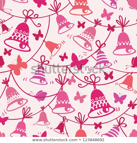 christmas pattern seamless christmas pattern golden sign bells stock photo © foxysgraphic